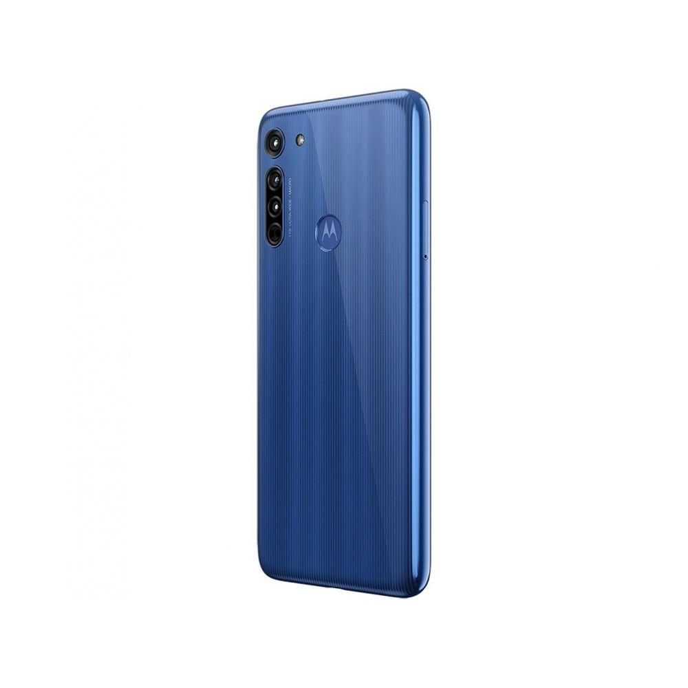 "Smartphone Motorola Moto G8 64GB Azul Capri 4G - 4GB RAM Tela 6,4"" Câm.  Tripla + - NovoLare"